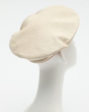 アイボリー  パイピングベレー帽見る