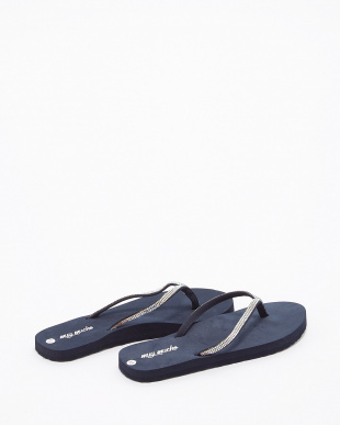 CLEAR CRYSTAL BLACK SANDALS W ビーチサンダル見る
