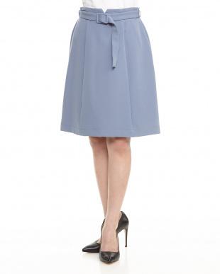 BLUE  Haベルト付きタイトスカート見る