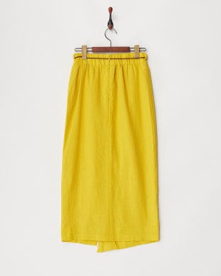 イエロー  コードベルト付スカート見る