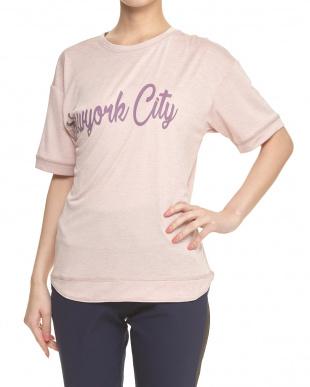 マロウピンク  5分袖Tシャツ見る
