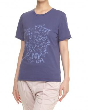シトロングレー  マーブルロゴプリントTシャツ見る