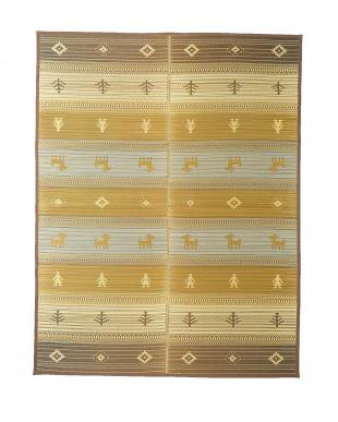 BR オリエンタル柄四季彩ラグ約191×250cm見る