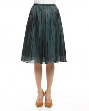 グリーン  グロッシーサテンスカート見る