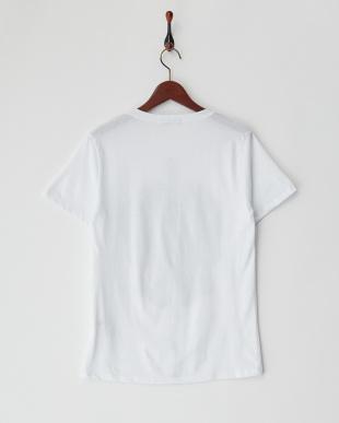 ホワイト  ラインストーンドクロTシャツ見る