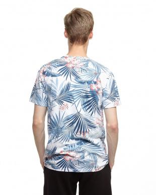 サマー ボタニカルフラワープリントTシャツ見る