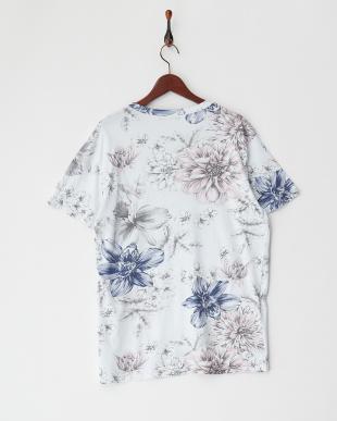フラワー ドローイングフラワープリントTシャツ見る