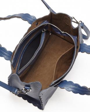 ネイビー  フリルカットデザインバッグ見る