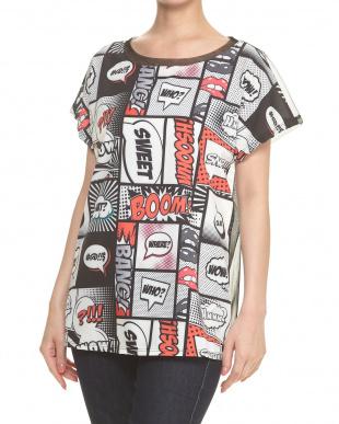ワード バックチュール切り替え 吹き出しプリントTシャツ見る