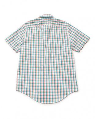 ダークサファイア  半袖 スティルリバー クールマックス プレードシャツ見る