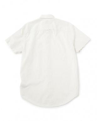 オフホワイト  半袖 サンクックリバー スモール ギンガム シャツ見る