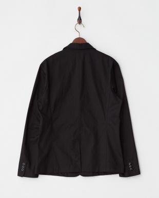ブラック  綿ツイルテーラードジャケット見る