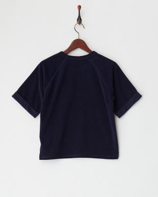 ネイビー  パイルラグラン半袖Tシャツ見る