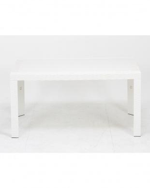 ホワイト  ステラ テーブル 80×140cm見る