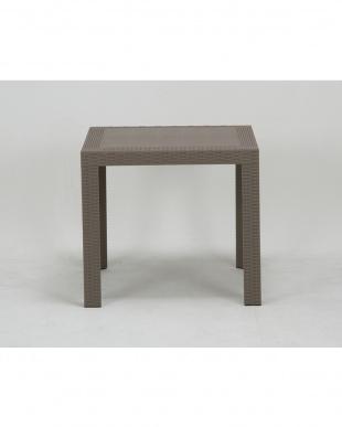 グレー  ステラ テーブル 80cm 角見る