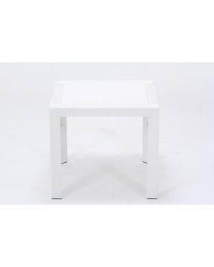 ホワイト  ステラ テーブル 80cm 角見る