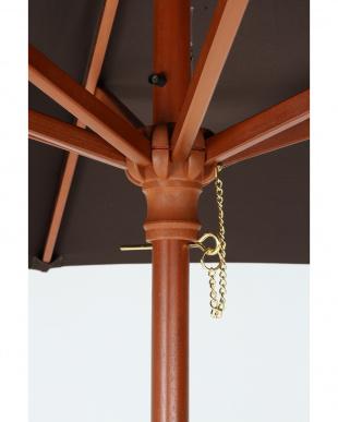 ブラウン  木製パラソル(270cm)見る