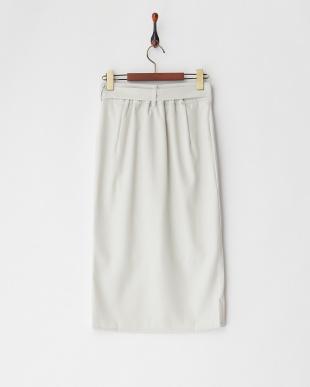 ミント  ベルト付きラップスカート見る