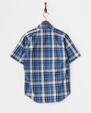 CHK/2  インディゴチェック半袖BDシャツ WH見る