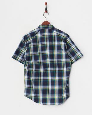 CHK/5  インディゴチェック半袖BDシャツ WH見る