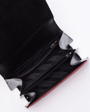 レッド×ブラック vintage バイカラーハンドバッグ見る