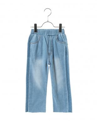 LT.BLUE  スマイルポケット テーパードデニムパンツ見る