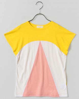YELLOW スリーカラー切り替えTシャツ見る