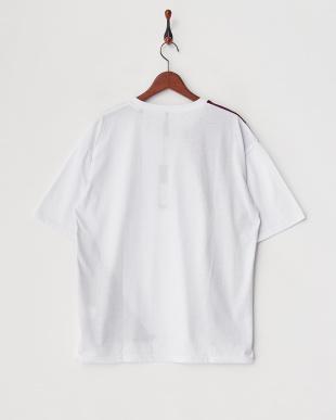 ホワイト  ベロア切替Tシャツ見る