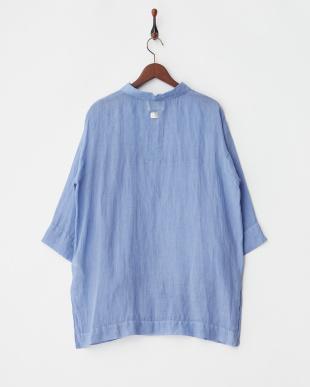 SKY BLUE BORDO ピンタックシャツ見る