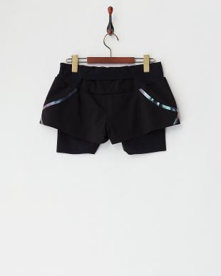 ブラック×ブルー  インナー付きSPEEDO ショートパンツ|WOMEN見る
