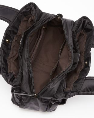 ブラック  3室構造 高密度ナイロントートバッグ 小見る