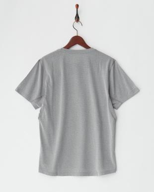 MEDIUM GRAY HEATHER  グラデ調デザイングラフィック SS Tシャツ見る