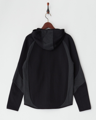 COTTON BLACK  EVOSTRIPE フルジップフーデッドジャケット見る