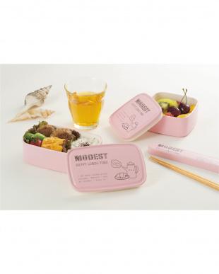ピンク  Modest 箸・箸箱セット見る