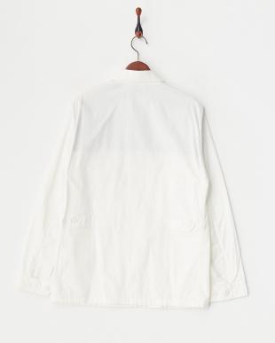 white  サファリテイストジャケット見る