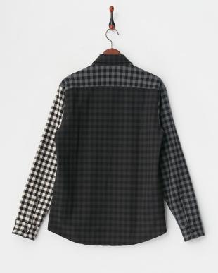 white系 カラーブロックチェックシャツデザインジャケット見る