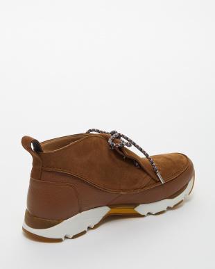 brown(COGNAC)  キルトスニーカーデザインシューズ見る