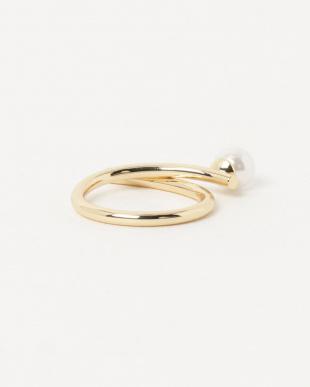 Gold cross pearl ring見る
