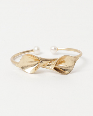Gold Calla lily bangle見る