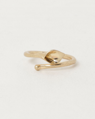 Gold Calla lily ring見る