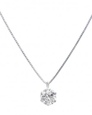 天然ダイヤモンド K18WG ネックレス0.2ct + Pt900 ピアス計0.1ct(計2点セット)見る