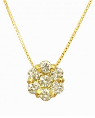 天然ダイヤモンド K18YGネックレス0.8ct + K18YG ピアス計0.1ct(計2点セット)見る