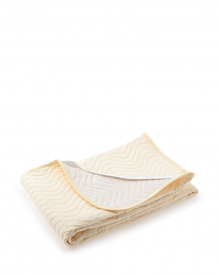 アイボリー アイボリー 日本製脱脂綿ベッドパッド シングル見る