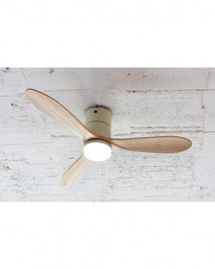 ホワイト  Modern Collection LED シーリングファン REAL wood blades見る