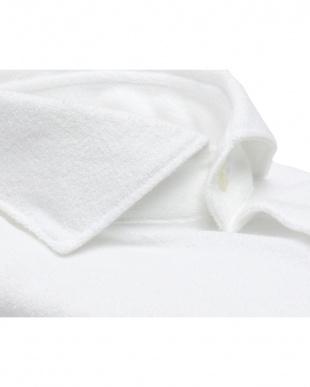 ホワイト系  ホリゾンタル ワイド コンフォートニットシャツ見る