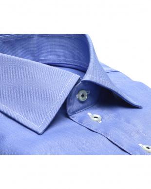 ブルー系 ワイドカラー AIR FACTOR ベーシックガーゼシャツ見る