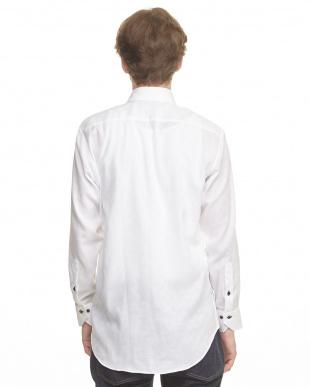 ホワイト系 AIR FACTO 形態安定 Wガーゼメンズシャツ見る
