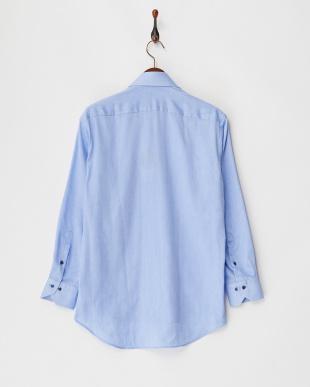 ブルー系 AIR FACTO 形態安定 Wガーゼメンズシャツ見る