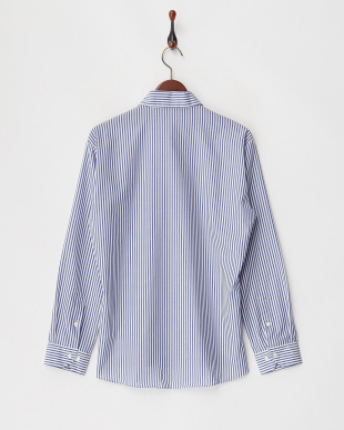 ブルー系 Supima100 形態安定 ロール メンズシャツ見る