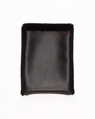 ブラック 洗える羊毛iPadケース(10.5インチ用)見る
